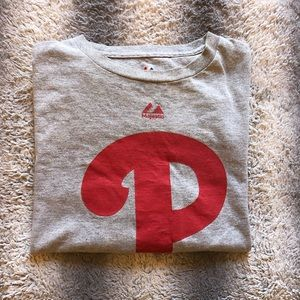 ⚾️ MLB Philadelphia Phillies Tee Men's Medium Red